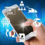 economia delle piattaforme - cellulare con applicazioni