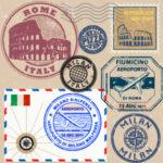 italiani all'estero - buste con francobolli