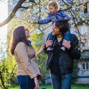 genitori al parco