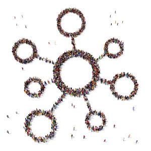 gruppi sociali - immagini di persone raccolte in cerchio