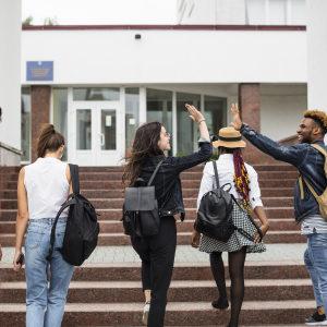 obiezioni alla legge sullo jus soli :ragazzi stranieri che entrano a scuola