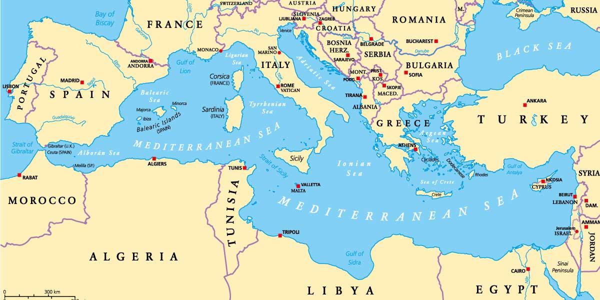 Mediterraneo Cartina.Variazioni Di Popolazione Nel Bacino Del Mediterraneo